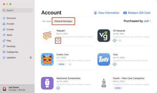 App Store stažení aplikace
